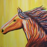 Finished Colorful Horse Portrait 01