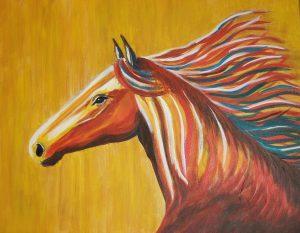 Colorful Horse Portrait 01