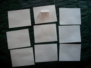 Printed enlarged template pages