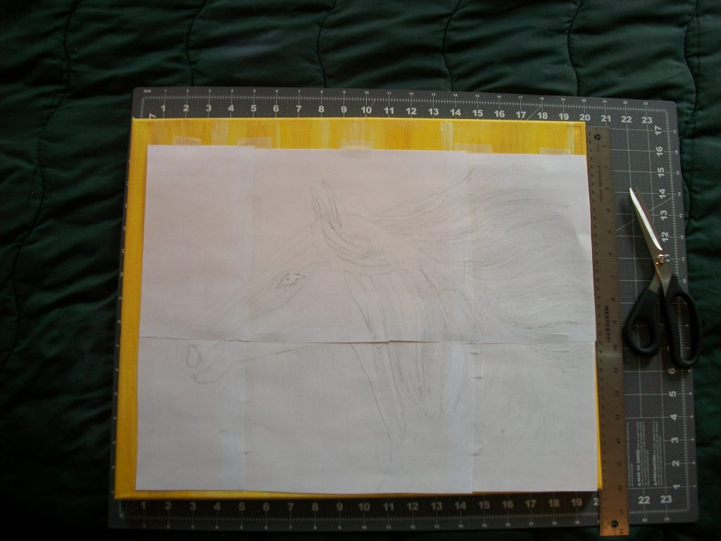 The assembled template pages
